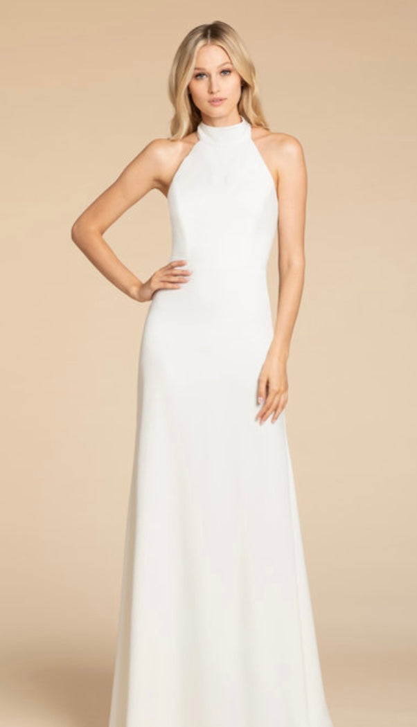 Hayley Paige Occasions Crepe Graduation Dress