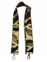 "Load image into Gallery viewer, 2"" Green Camo Guitar Crossbody Strap"