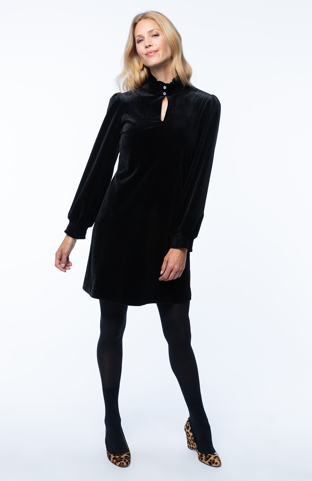 Tyler Boe Velvet long sleeved dress