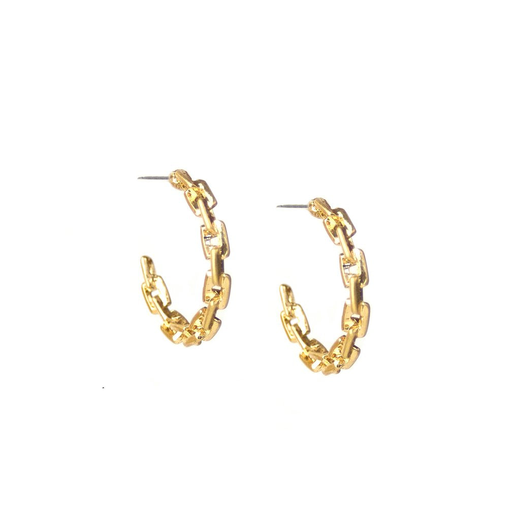 Small Link Design Hoop earring
