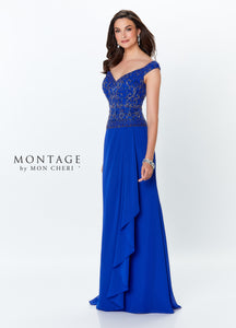 Montage 119944 Gorgeous Off the Shoulder Chiffon Gown