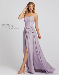Macduggal 30701 Lilac Gown with Spaghetti Straps and Open Back