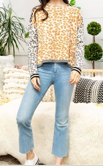 THML Animal Print Sweater
