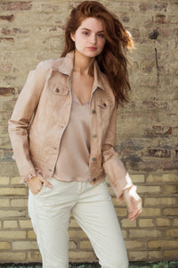Au Lait Patina Leather Jacket