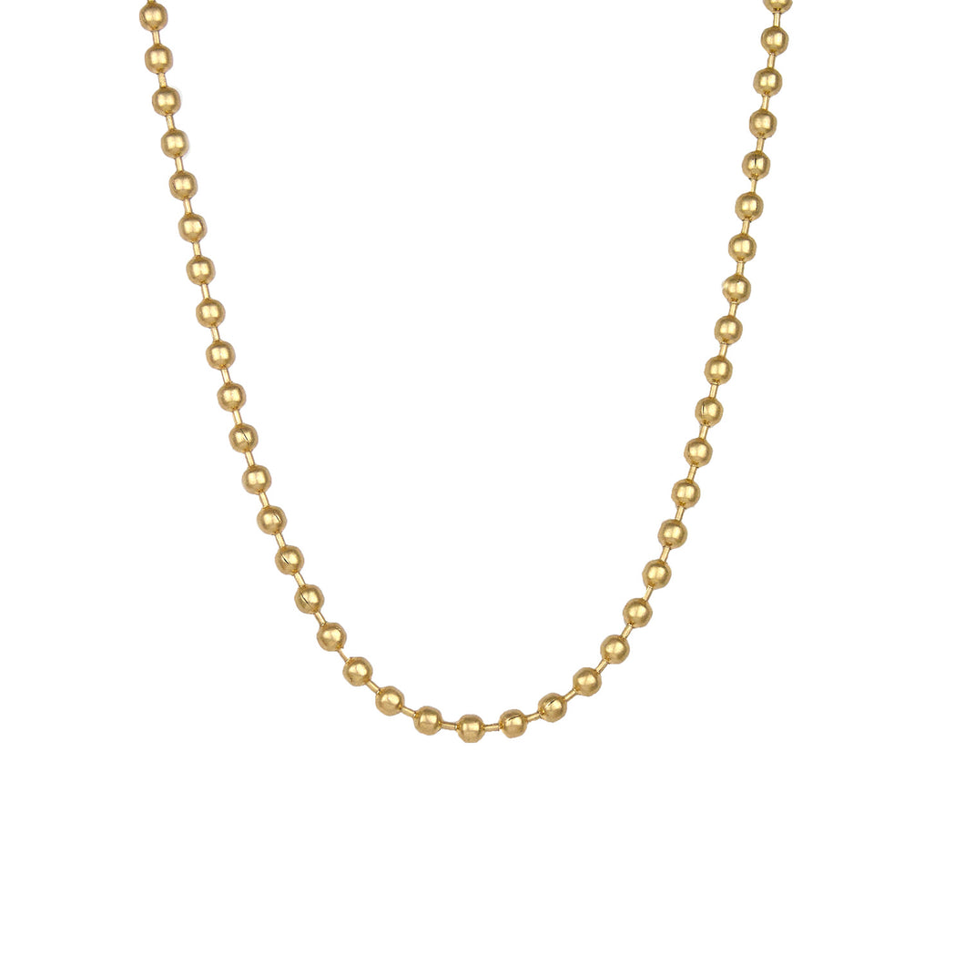 Gold Metal Ball Necklace