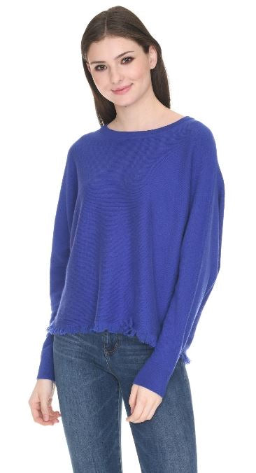 Royal Blue Cashmere Pullover Sweater
