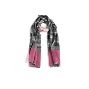 Preppy Plaid and Pink Scarf