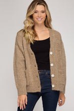 Load image into Gallery viewer, Katie Oversized Cardigan in Oatmeal