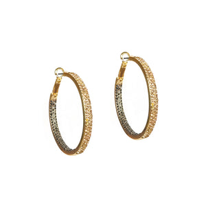 Gold Metal Hoop with CZ detail