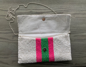 Designer inspired beaded purse