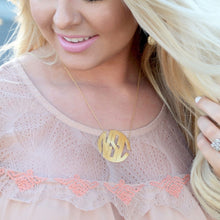 Load image into Gallery viewer, Block Monogram Necklace
