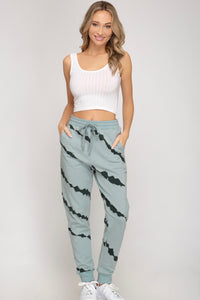 Green Tie Dye French Terry Joggers