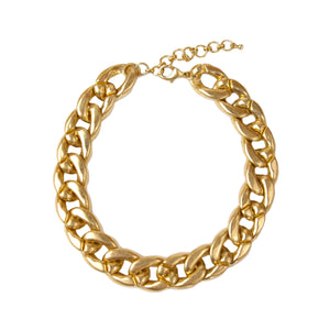 Gold Metal Chunky Chain Short Necklace