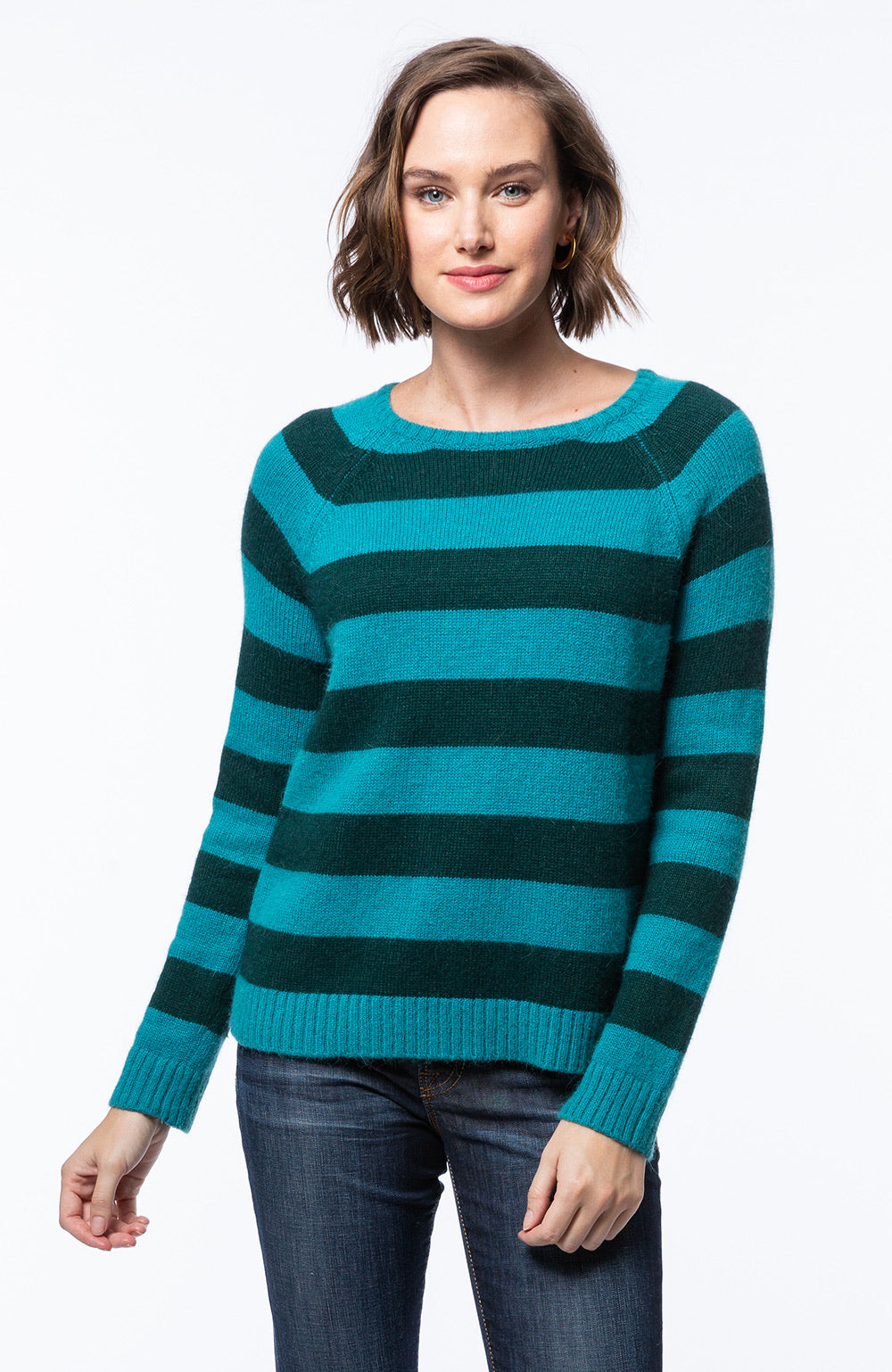 Tyler Boe Striped Cashmere Sweater