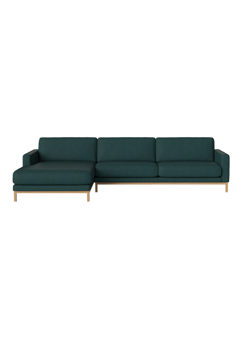 North 4 seater sofa with chaise longue - left