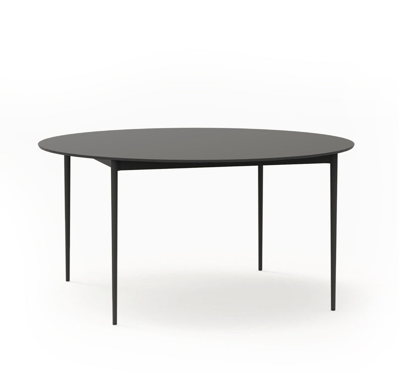 Nude round dining table
