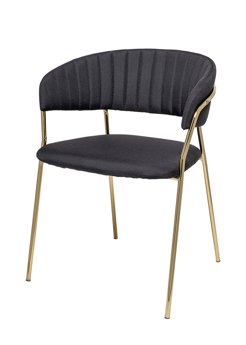 Form Dining Chair, Black, Polyester