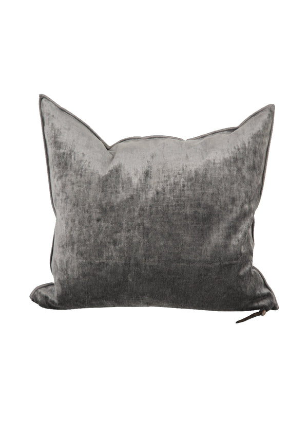 MDV Royal Velvet Square Pillow in Anthracite