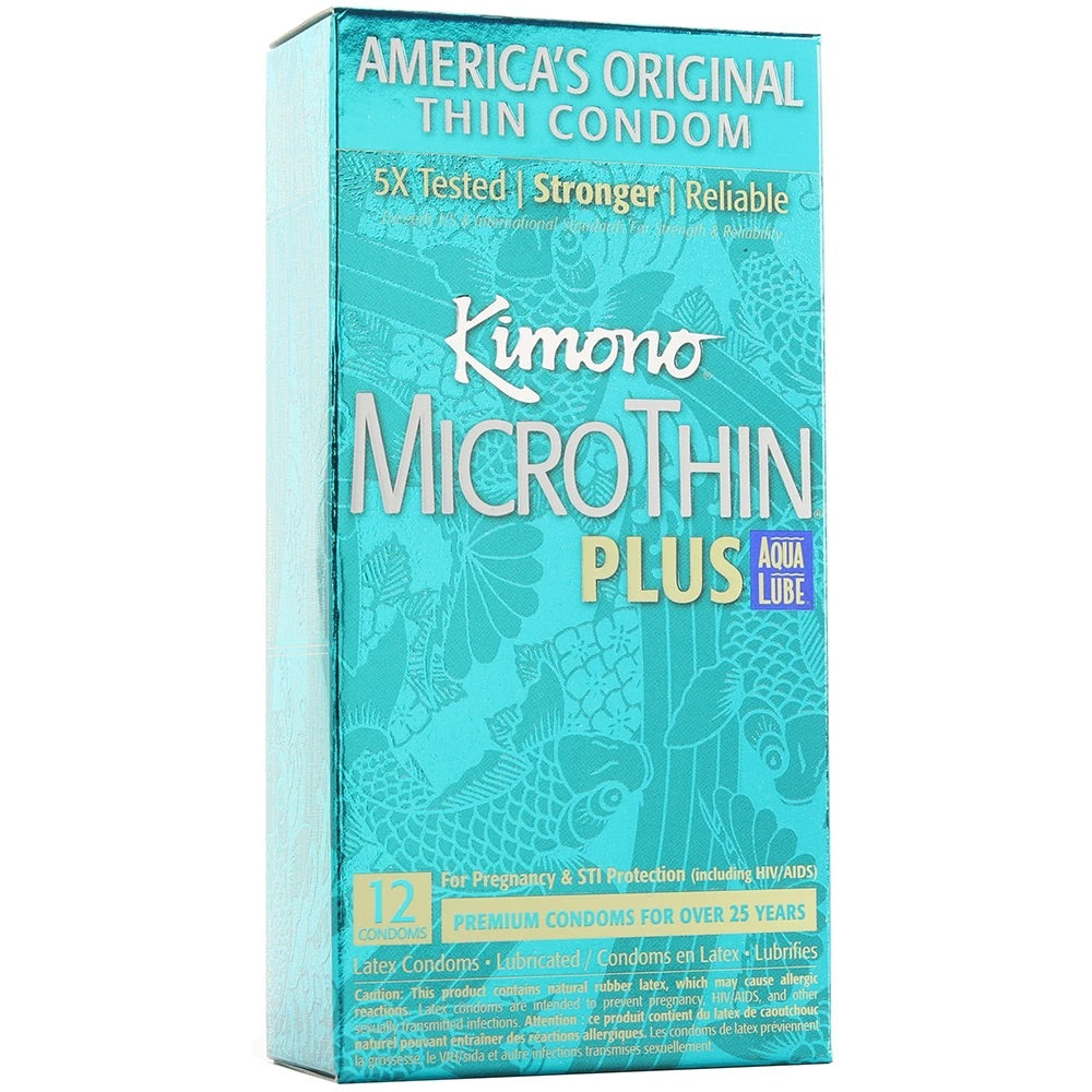 Kimono Micro Thin Aqua Lube Condoms in 3 Pack