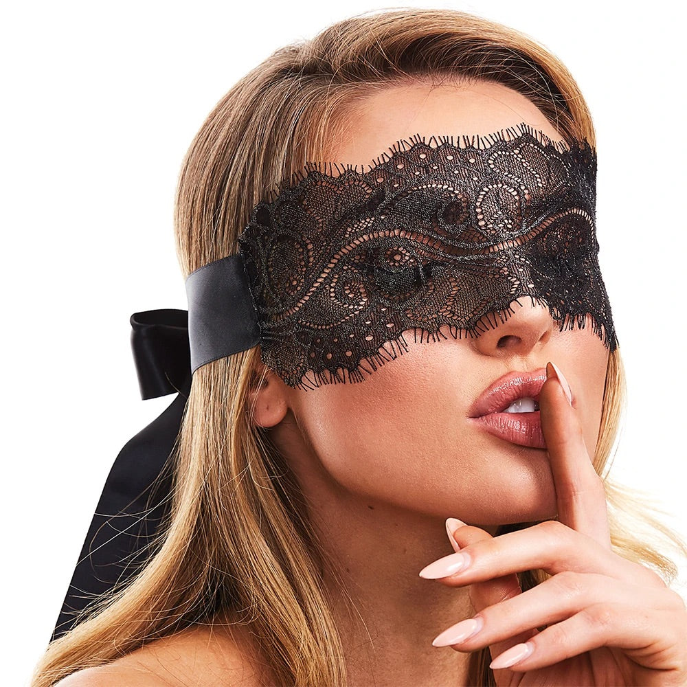 Secret Kisses Boudoir Lace Blindfold
