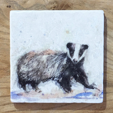 Marble Coaster - Mr Badger