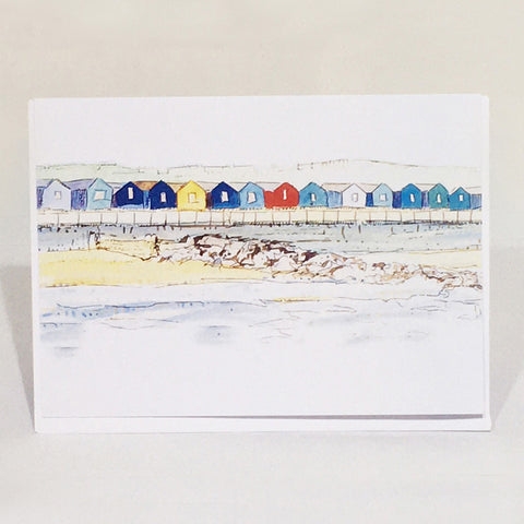 Greetings Card - Beach Huts