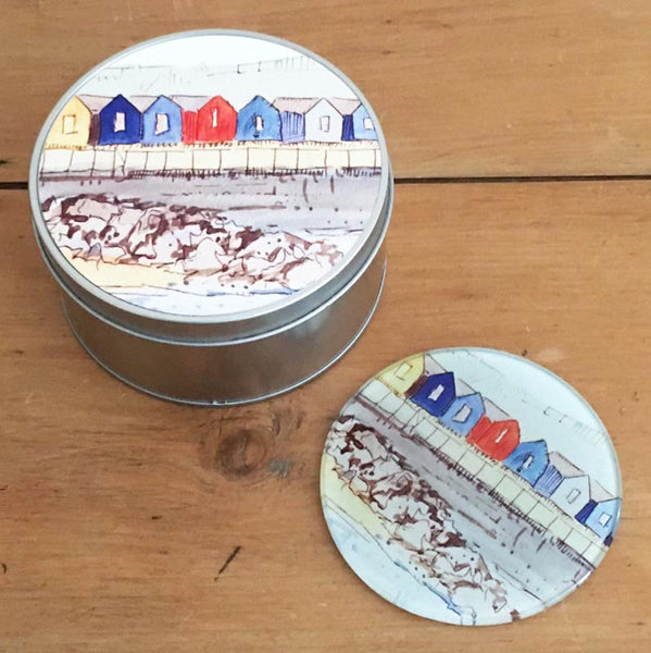 Coaster Gift Set - Beach Huts