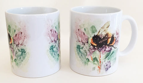 Earthenware Mug - Bee Ballet