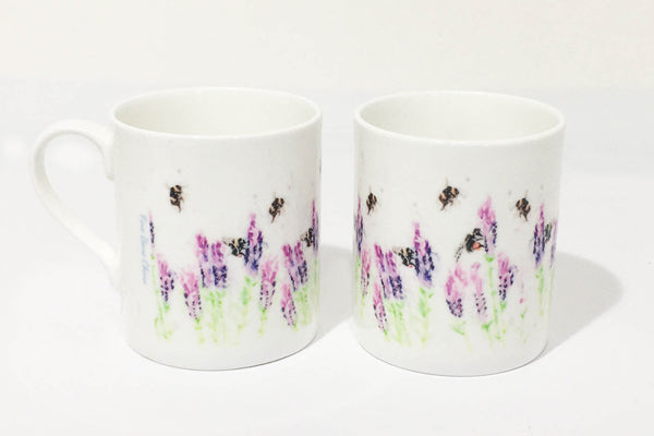 Fine Bone China Mug - Beeing Around Lavender