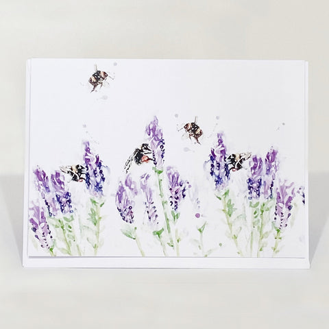 Greetings Card - Beeing Around Lavender
