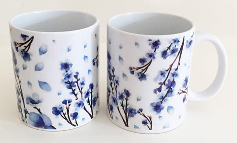 Earthenware Mug - Blue Blossom