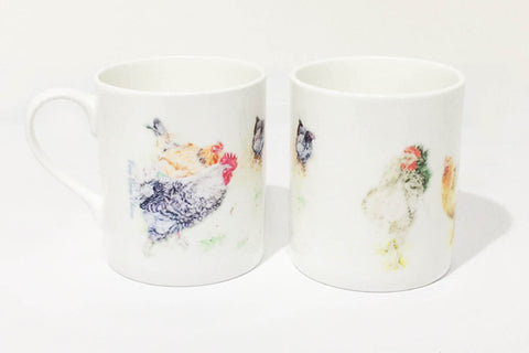 Fine Bone China Mug - Forever Hens