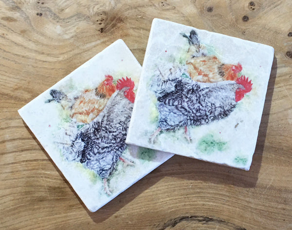 Marble Coaster - Foraging hens