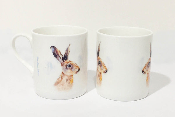 Fine Bone China Mug - Hare Portrait