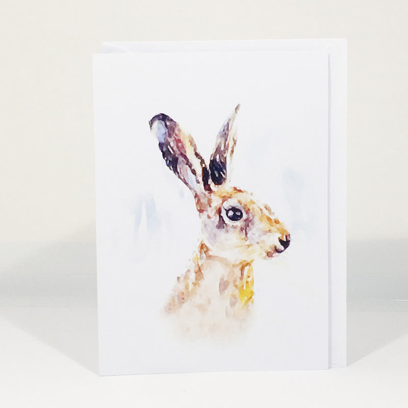 Greetings Card - Hare Portrait