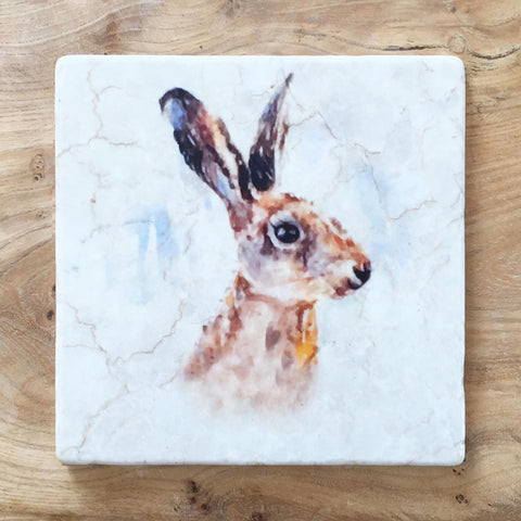 Small Trivet - Hare Portrait