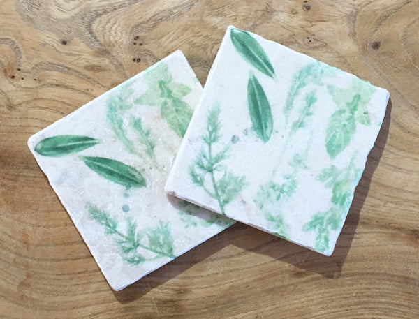 Marble Coaster - The Herb Garden