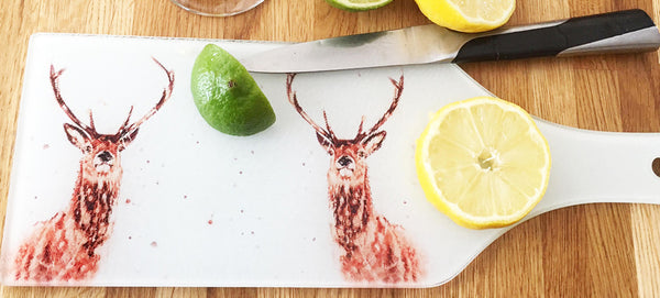 Glass Bottle Chopping Board - His Majesty