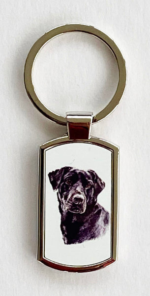 Key Ring - Black Labrador