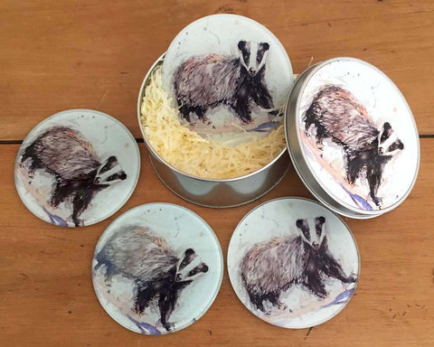 Coaster Gift Set - Mr Badger