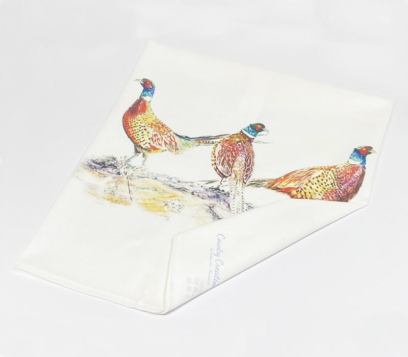 Tea Towel - Pheasant Bouquet