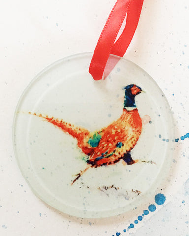 Christmas Decoration - Running Pheasant