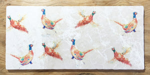 Large Sharing Board - Pheasants repeating