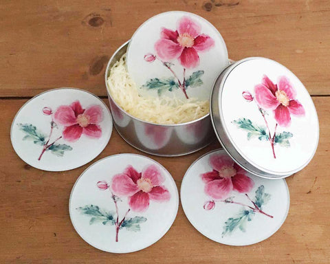 Coaster Gift Set - Pink Mallow