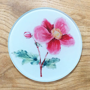 Glass Coaster - Pink Mallow