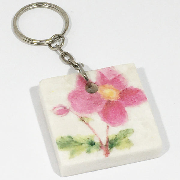 Key Ring - Pink Mallow