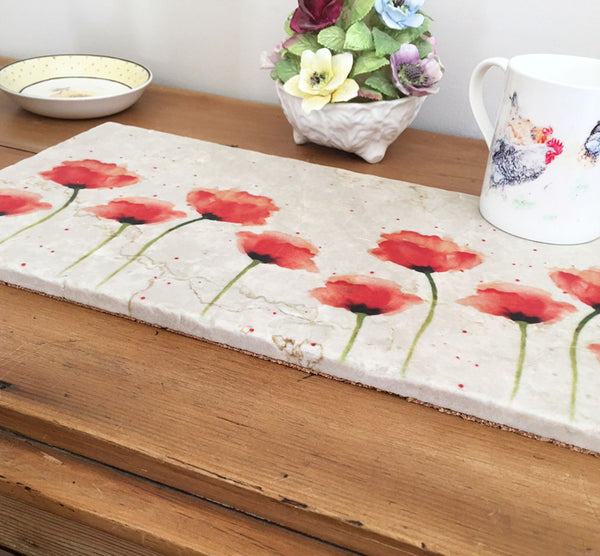 Large Sharing Board - Red Poppies