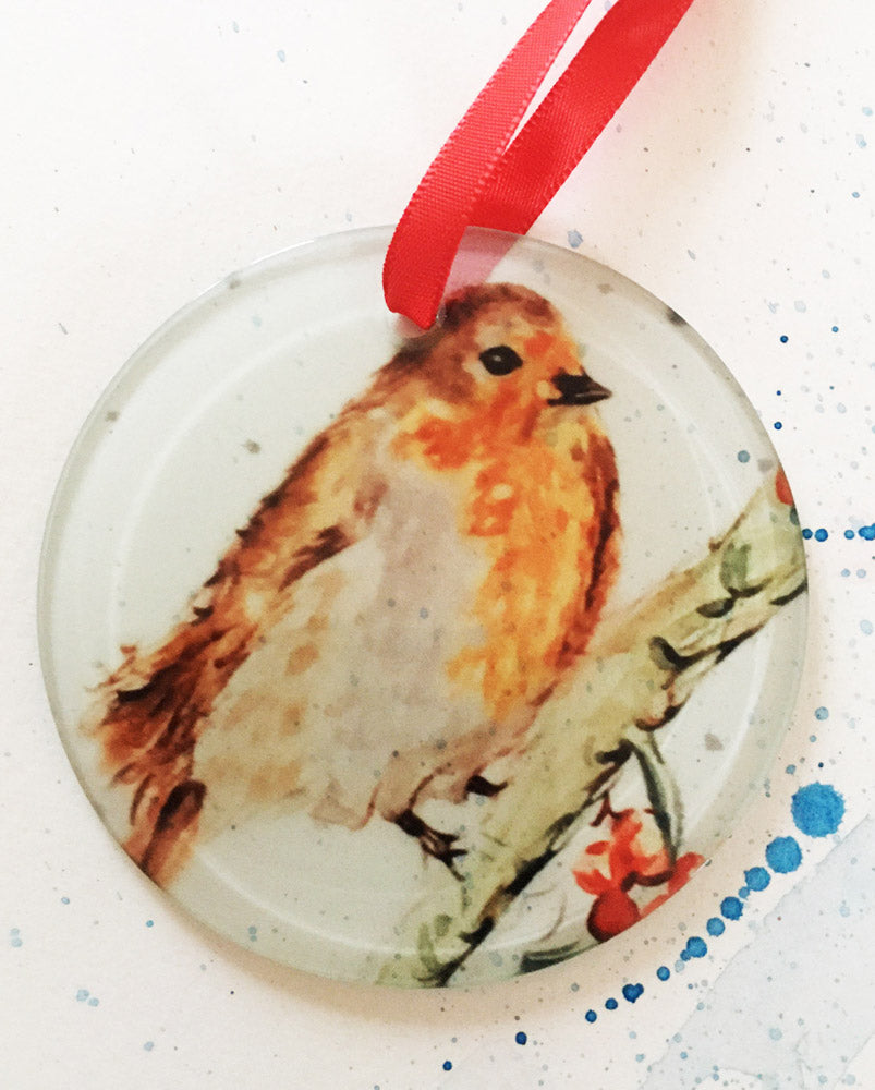 Christmas Decoration - Red Berry Robin