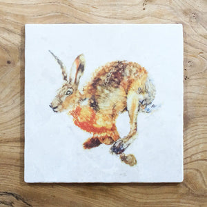 Small Trivet - Running Hare