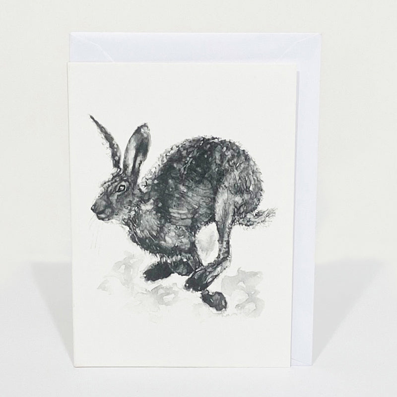 Pack of 4 Notelets - Running Hare